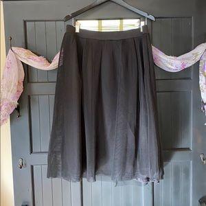 Black Charlotte Russe Mesh Overlay Skirt